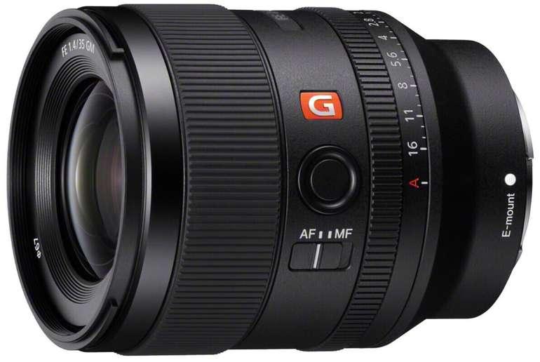 Sony SEL35F14GM - Vollformat E-Mount Objektiv FE 35mm F1.4 GM (Premium G Master Objektiv) für 1.393,58€