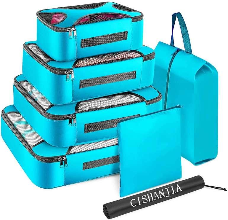 Cishanjia 7-teiliges Koffer Organizer Set in 3 Farben für je 10€ inkl. Prime Versand (statt 12€)
