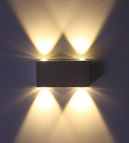 Vingo 4x1W LED Wandleuchte, Innen, für 10,49€ inkl. Versand (statt 14,99€)