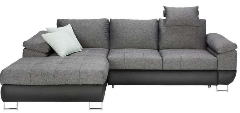 Modern Living Wohnlandschaft in Grau mit Bettfunktion für 657,65€ inkl. Versand (statt 828€)