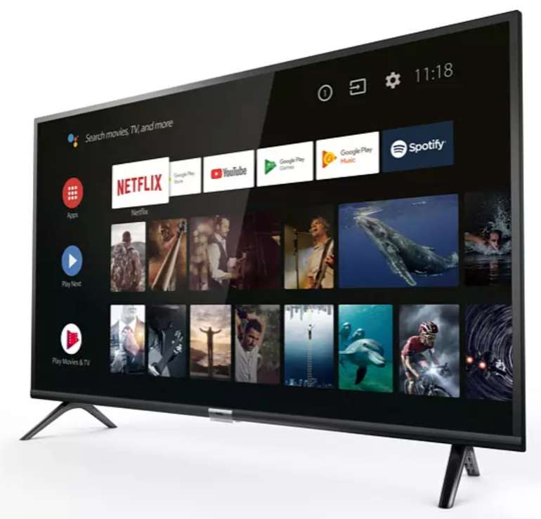 TCL 32ES565 LED TV mit 32 Zoll (HD-ready, SMART TV, Android TV) für 188,10€ inkl. Versand (statt 209€)