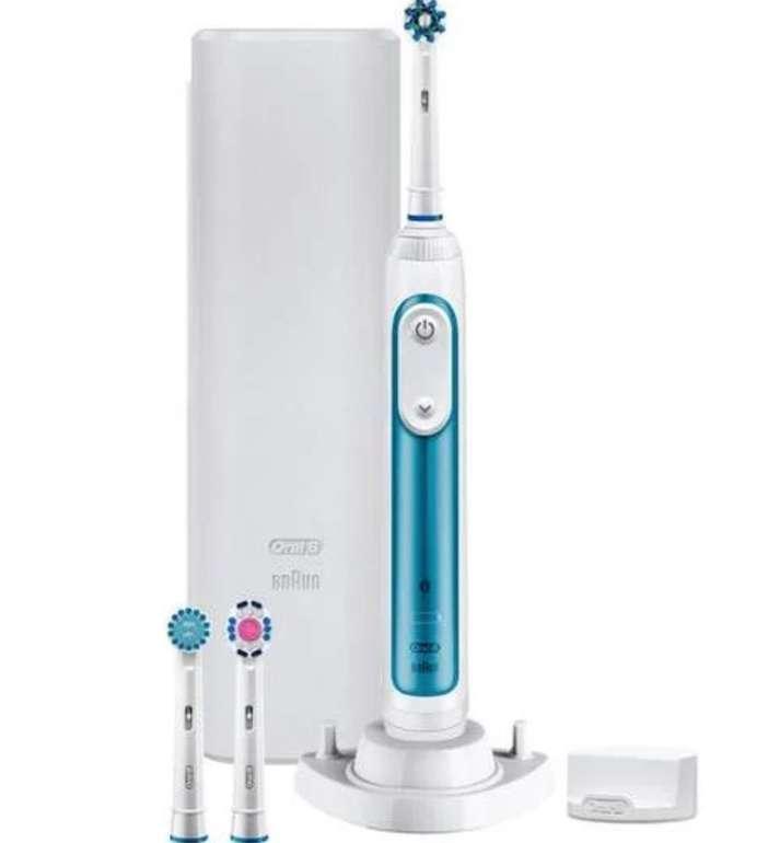 Oral-B Smart 6 6000N Elektrische Zahnbürste (Bluetooth Verbindung mit App, 5 Reinigungsmodi, Drucksensor) für 69,99€