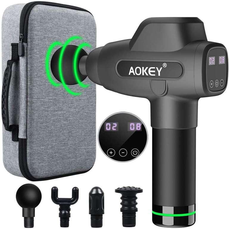 Aokey Massagepistole mit 4 Massageköpfen & 20 Geschwindigkeiten für 69,99€ inkl. Versand (statt 117€)