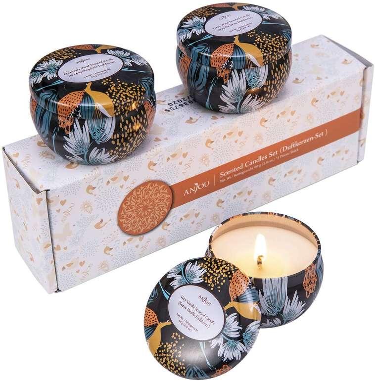 Anjou 3er Pack Aroma Kerzen im Geschenkset für 10,39€ inkl. Prime VSK
