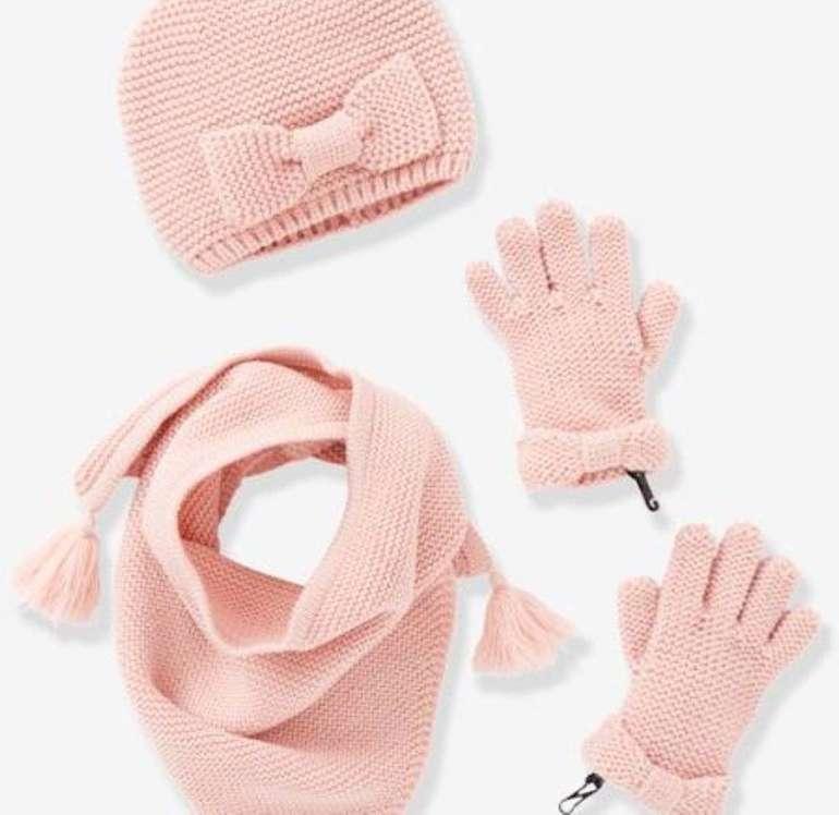 Vertbaudet Sale bis zu 50% Rabatt + 10% Extra - z.B. Schal, Mütze und Handschuhe für Mädchen ab 13,79€