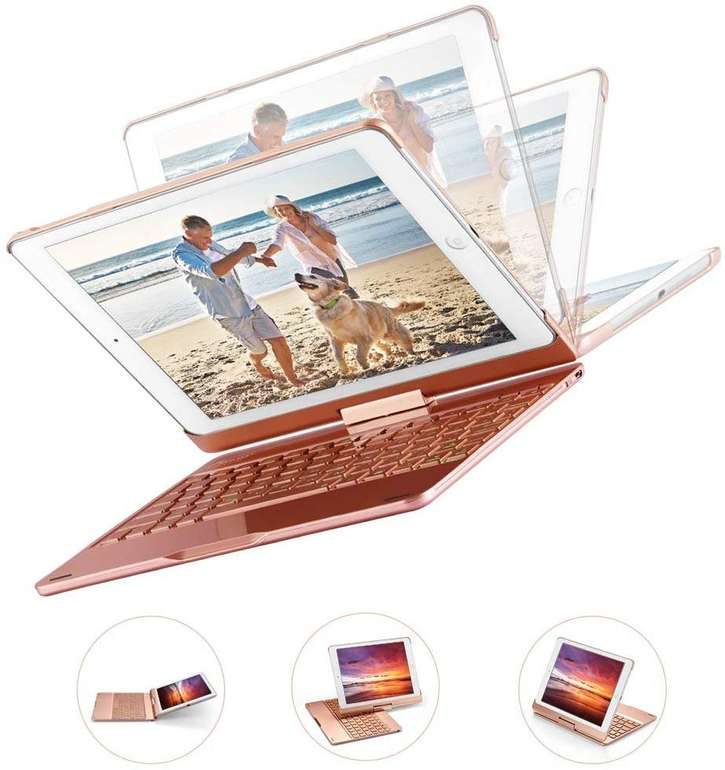 MAD GIGA Apple iPad (9.7 2018, Pro 9.7 & Air) Bluetooth Tastatur mit Hintergrundbeleuchtung für 14,40€