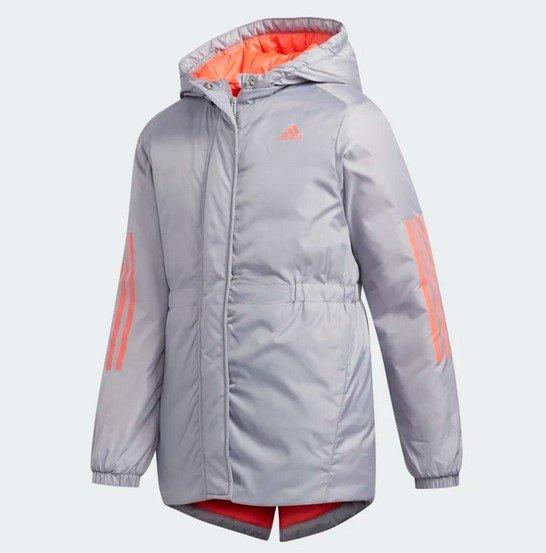 Adidas Insulated Kinder Jacke in Glory Grey für 39,38€ inkl. Versand (statt 75€)