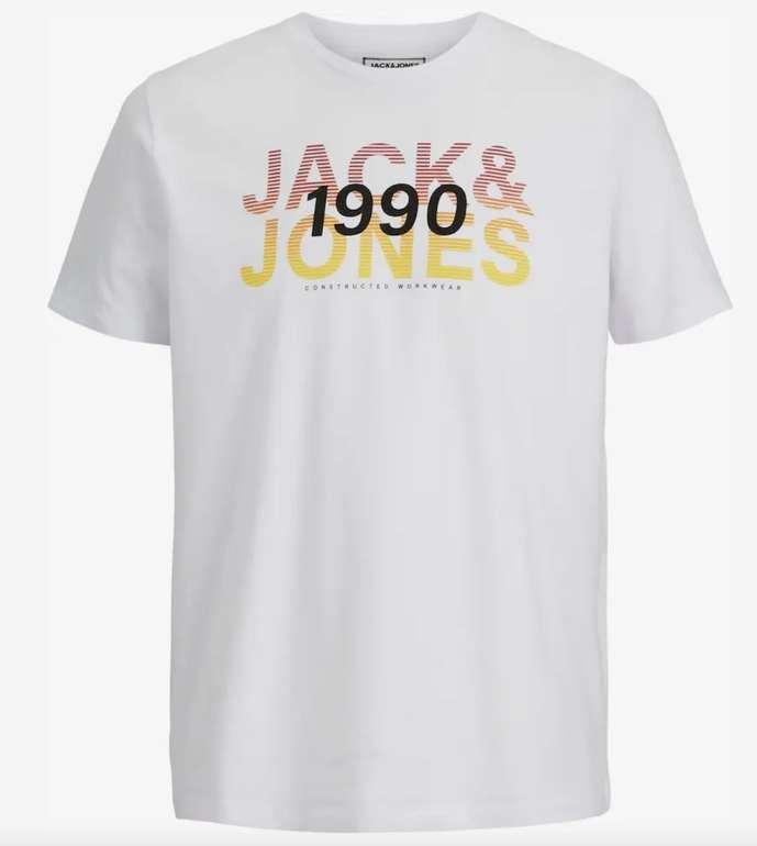 Jack & Jones Herren T-Shirt in Weiß mit farbigem Brustprint für 8,90€ inkl. Versand (statt 13€)