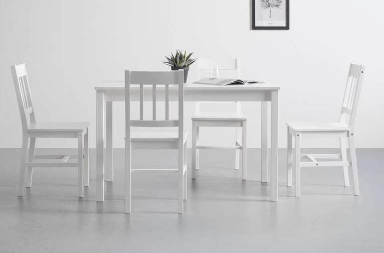 """Bessagi Home Tischgruppe """"Amira"""" in weiß oder natur (5-tlg) für 180,25€ inkl. Versand (statt 255€)"""