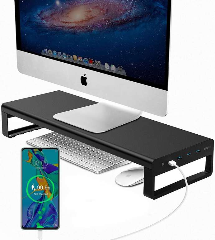 Vaydeer Monitorständer mit USB Schnellladeanschluss & USB Hub für 20€ inkl. Versand (statt 40€)