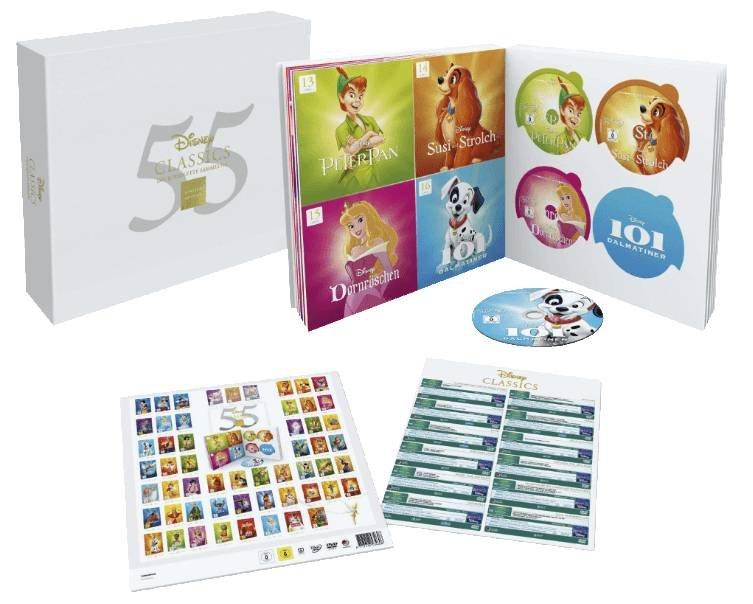Disney Classics Komplettbox mit 47 Blu-rays + 9 DVDs für 186,99€ (statt 220€)