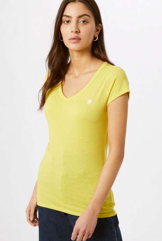 G-Star RAW Damen Eyben Slim T-Shirt in Gelb für 9,54€ inkl. Versand (statt 16€)