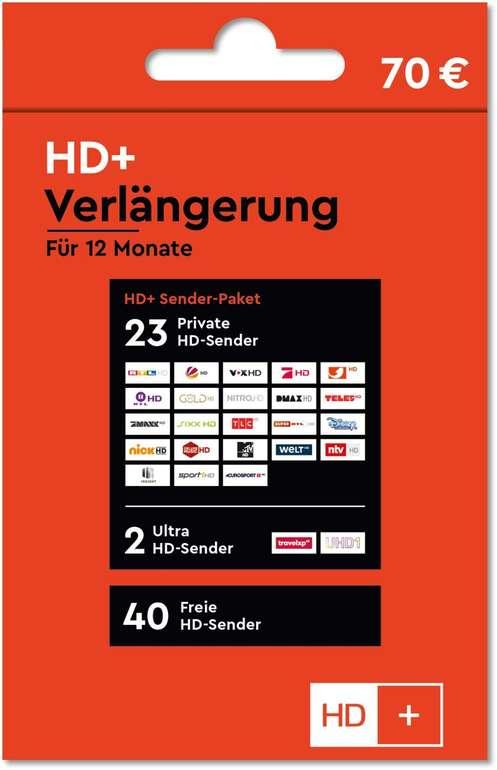 HD+ Verlängerung für 12 Monate für 33,33€ per Mailversand (statt 49€)