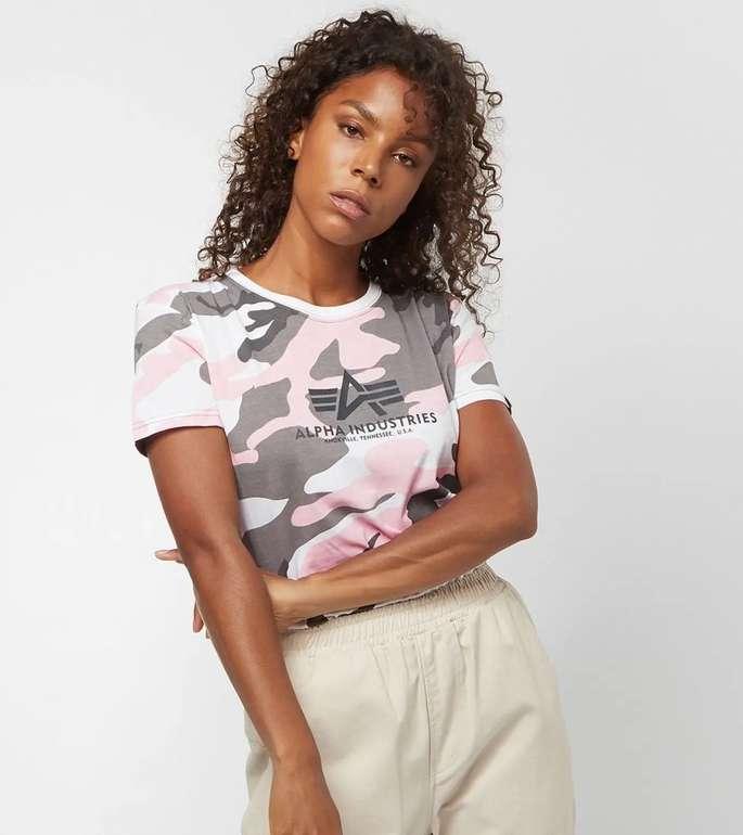 Alpha Industries New Camo Basic Damen Shirt für 21,48€ inkl. Versand (statt 27€)