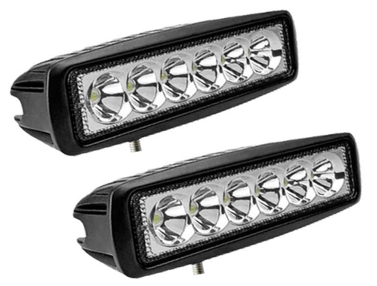 Puffalou 2 x 18W LED Arbeitsscheinwerfer für 13,55€ inkl. Versand (statt 23€)