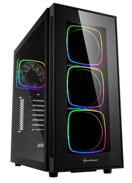 Sharkoon TG6 RGB Tower-Gehäuse in Schwarz für 69,98€inkl. Versand (statt 90€)