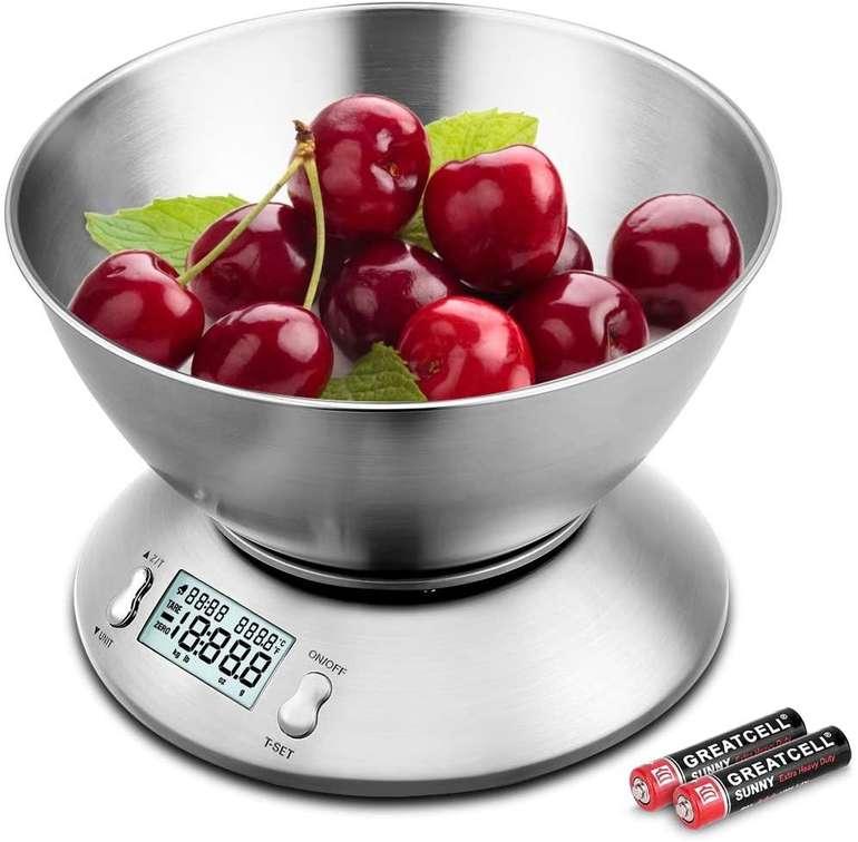 Uten - Digitale Küchenwaage mit LCD-Display und 2 Liter Schale für 10,99€ inkl. Prime Versand (statt 18€)