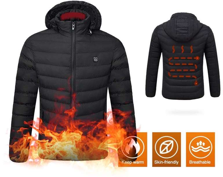 Beheizte Softshell Winterjacke von Lixada für 29,99€ inkl. Versand (statt 60€)