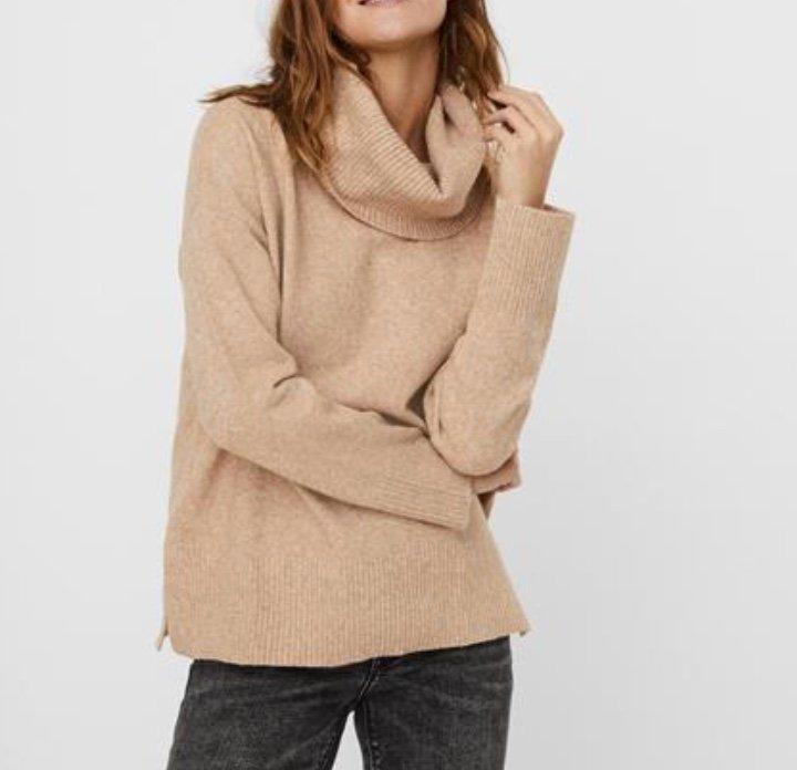 Vero Moda Vmdoffy LS Cowlneck Blouse GA Color Damen Pullover für 19,90€ inkl. Versand (statt 35€)