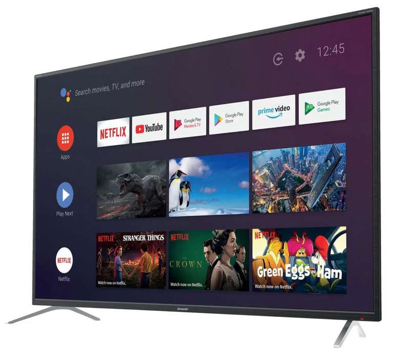 Sharp 4T-C65BL2EF2AB TV mit 65 Zoll (UHD, AndroidTV, Smart TV) für 513,90€inkl. Versand (statt 629€)
