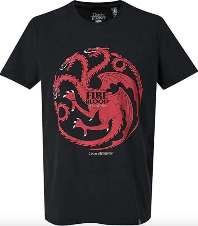 Gozoo Game of Thrones T-Shirt Herren House Targaryen - Fire and Blood für 7,50€ inkl. Versand (statt 13€)