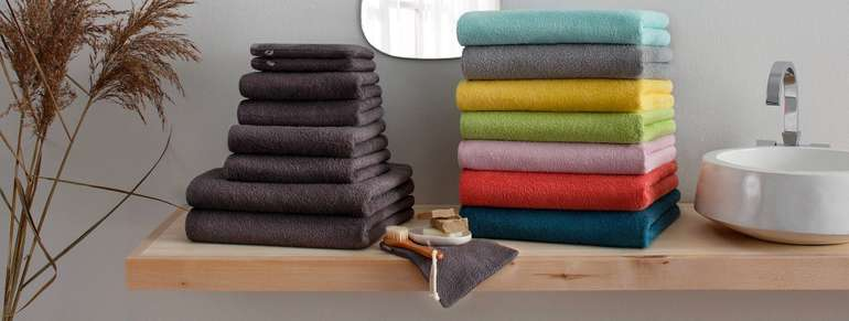 Handtuch Set Neele 8-tlg aus Bio Baumwolle Header
