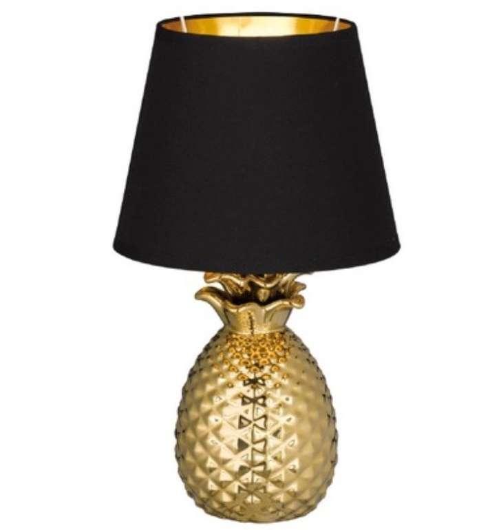 """Reality Leuchten Keramik-Tischleuchte """"Pineapple"""" (Fassung E14, Höhe 35 cm) für 16,99€ inkl. Versand"""