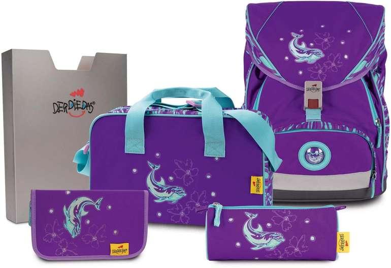 """DerDieDas 5-teiliges Schulrucksack-Set ErgoFlex XL """"Silver Dolphin"""" für 130,01€ inkl. Versand (statt 233€)"""