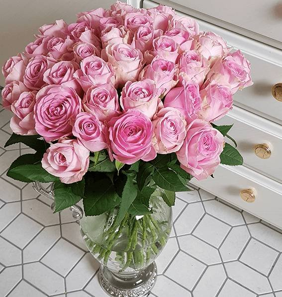 "40 pinke Rosen im Strauß ""PinkDiamonds"" für 24,98€ inkl. Versand"