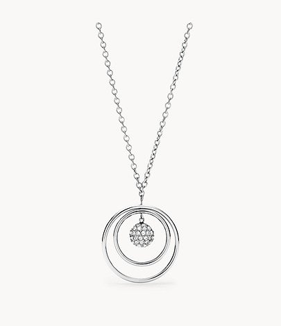 Fossil Damen Halskette Silver-Tone Stainless Steel Necklace für 23,60€ inkl. Versand (statt 55€)