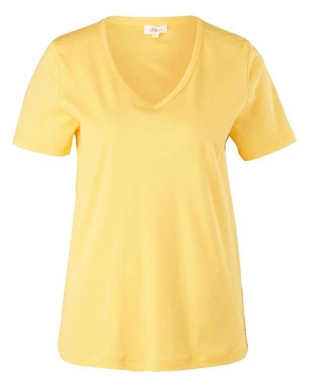 s.Oliver Damen T-Shirt in Gelb für 5,60€ inkl. Versand (statt 10€)