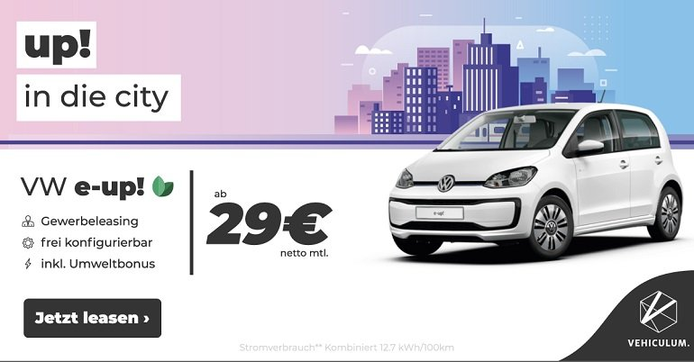 Gewerbe Leasing Volkswagen E-Up! 2