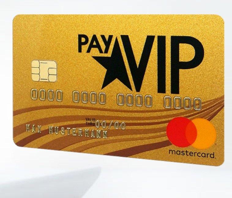 Endet bald: Kostenlose payVIP Mastercard Gold (gebührenfrei!) + 40€ Gutschein für Amazon