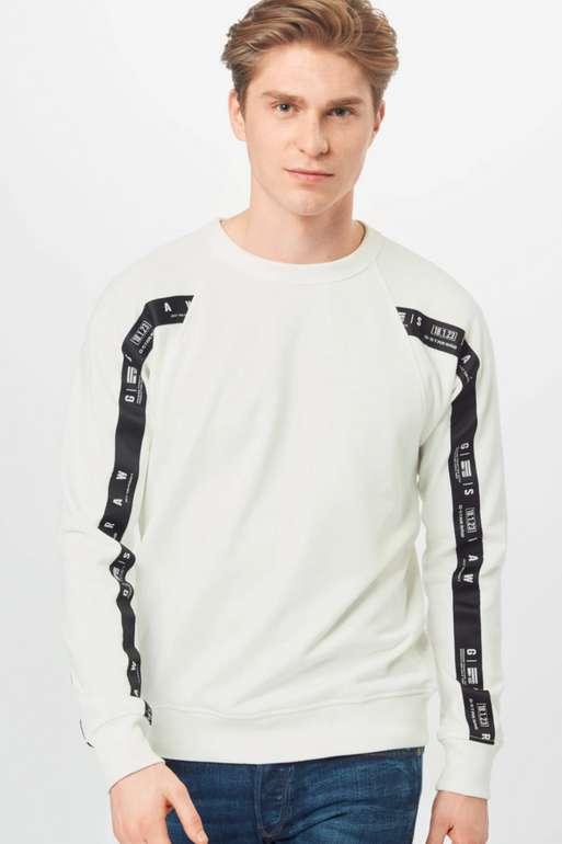G-Star RAW Raglan Taping Sweatshirt in Weiß für 34,90€inkl. Versand (statt 53€)
