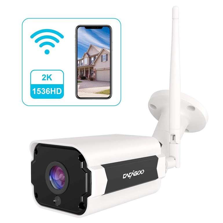 Cacagoo WLAN Überwachungskamera für Aussen nur 39,99€ (statt 60€)