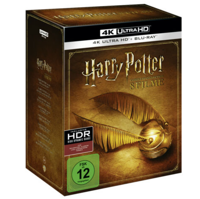 Harry Potter 4K Complete Collection (16-Discs) [4K Ultra HD Blu-ray] für 96€