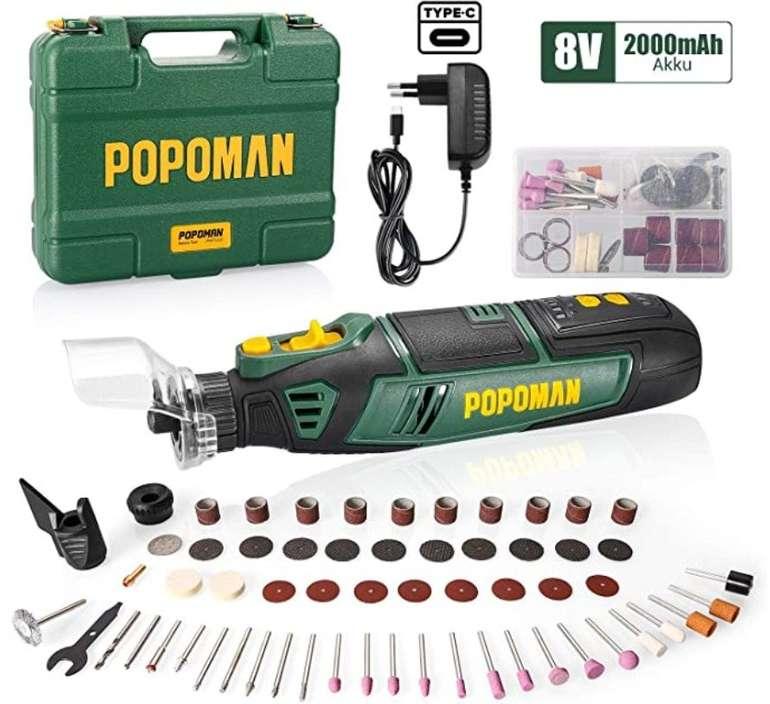 Popoman Akku Multifunktionswerkzeug (8V, 2.0Ah, mit 5 Variable Drehzahlen) für 29,99€ inkl. Versand