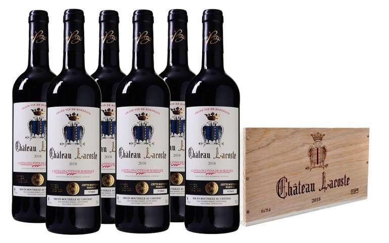6er Paket Château Lacoste Bordeaux in einer schicken Holzkiste für 47,89€ (statt 65€)