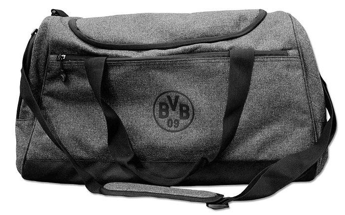 BVB Sporttasche in grau mit dezentem Logo für 19,09€ (statt 40€)