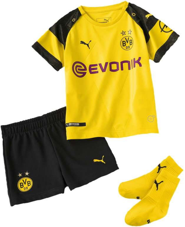 Puma BVB Borussia Dortmund Home Babykit 2018/19 (Trikot, Shorts & Socken) für 17,98€ (statt 35€)