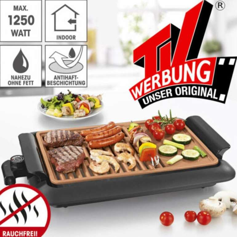 GOURMETmaxx Beef Elektro-Grill mit 2 Grillflächen für 34,99€ inkl. Versand (statt 38€)