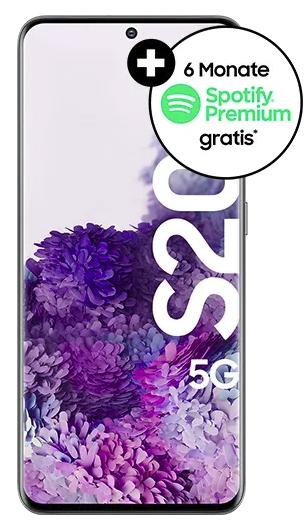 Samsung Galaxy S20 5G 128 GB + 10€ Amazon Gutschein (4,99€) + Vodafone Smart L+mit 15 GB LTE und Allnet Flat für 34,99€ mtl.