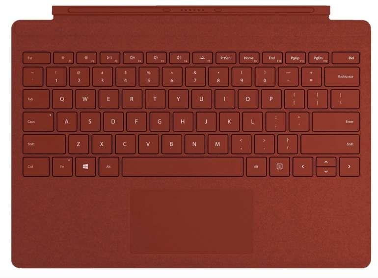 Microsoft Surface Pro Signature Type Cover Tastatur in Poppy Red für 90€ inkl. Versand (statt 110€)