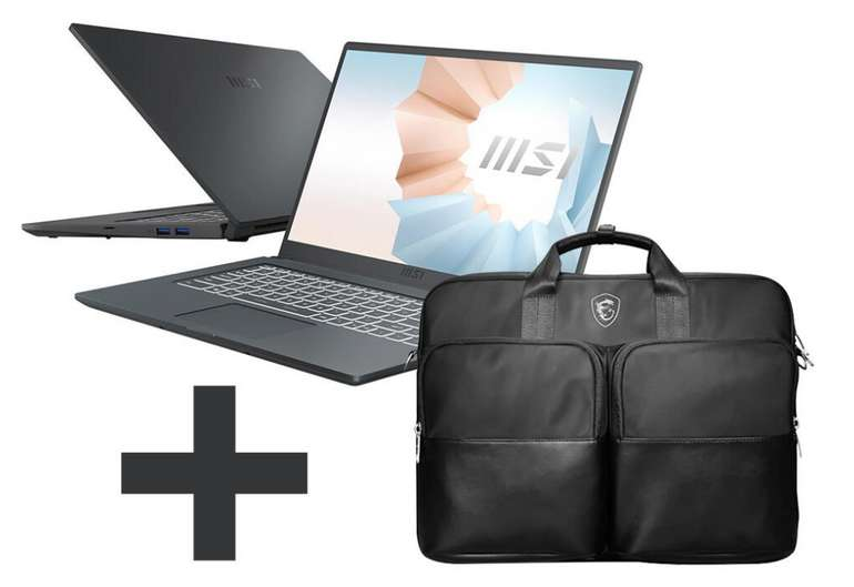 MSI Modern 15 A10M-640 Notebook mit 15 Zoll (8GB RAM, 512GB SSD, Full HD) + Tasche für 579€ inkl. Versand