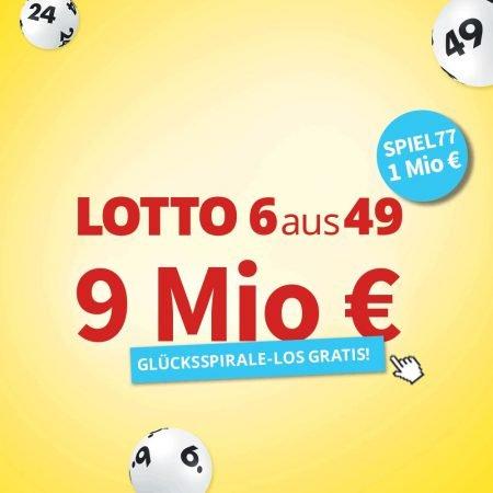 12 Felder Lotto inkl. Spiel77 für 14,50€ + GlücksSpirale Los gratis