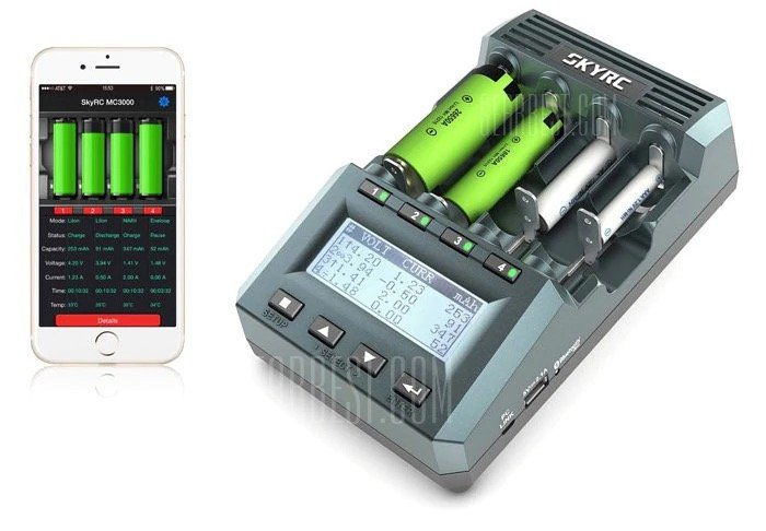 Skyrc MC3000 Akku-Ladegerät mit Bluetooth & App Control für 69,36€ inkl. Versand