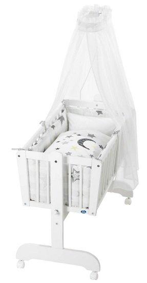 Alvi Komplettpendelwiege Sina in Weiß für nur 128,79€ inkl. VSK (statt 160€)