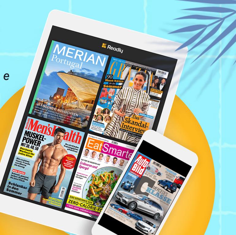 """2 Monate die Readly """"Magazin Flatrate"""" für 0,99€ testen (statt 9,99€ mtl.)"""