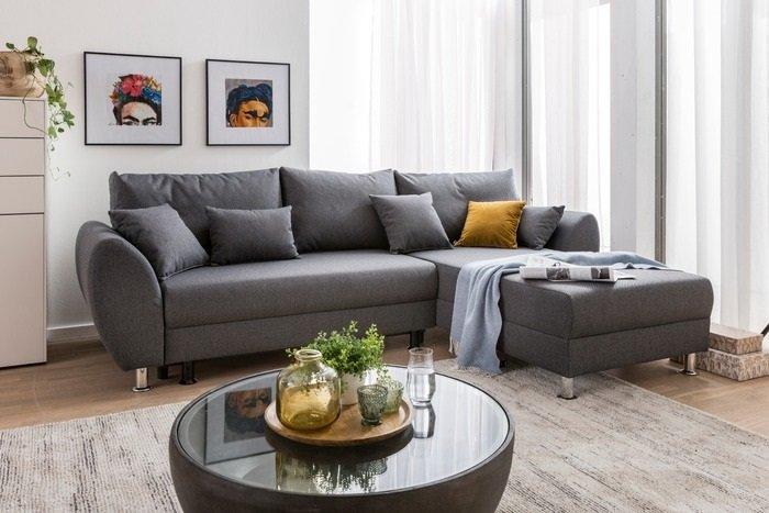Ecksofa Reno mit Schlaffunktion für 379€ (statt 499€)
