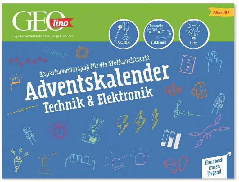 Franzis GEOLINO Adventskalender Technik & Elektronik 2020 für 17€ (statt 20€)